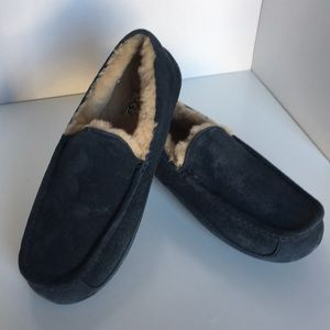 ❤️New Ugg Ascot Navy moccasin Suede slipper 7 or 9